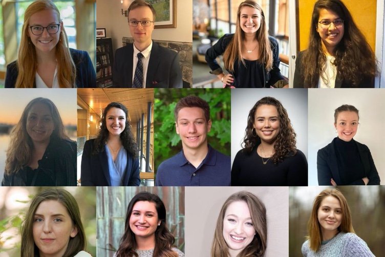 A collage of UNH students who have had social innovation internships