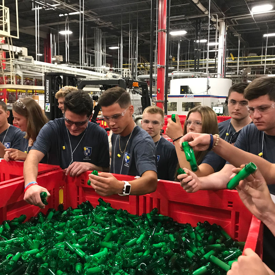 Paul Scholars at Coca Cola Factory