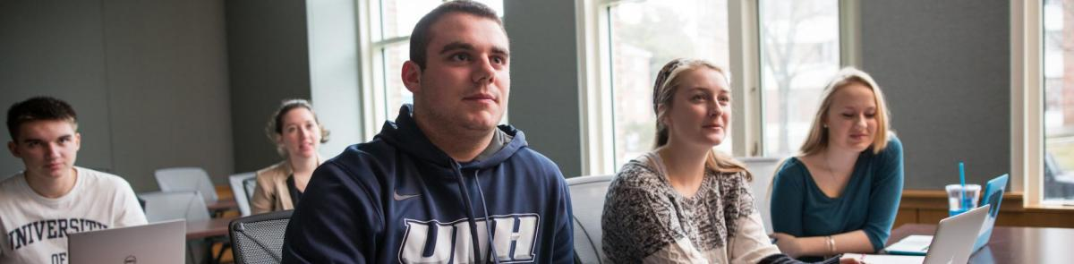 UNH Paul College business administration students
