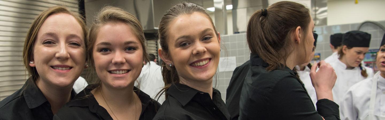 Hospitality Management Gourmet Dinner, 3 student servers