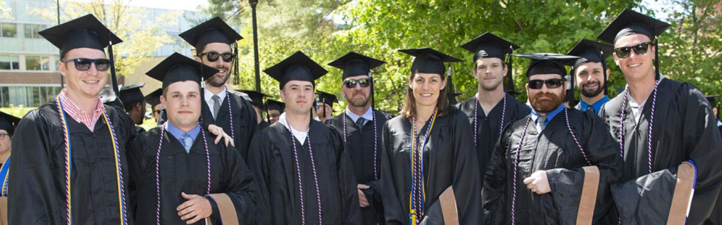 group of veteran students at Commencement