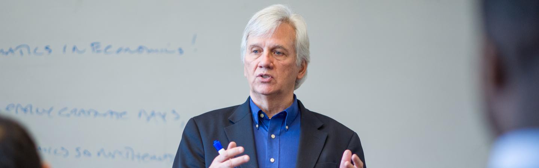UNH economics professor James Wible