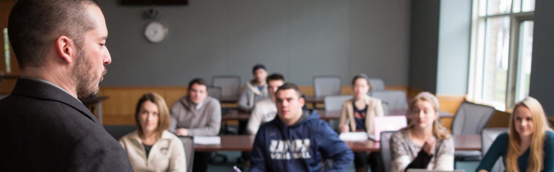 Paul Harvey teaching students