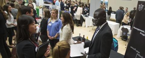 UNH students at career fair
