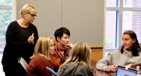 Kim Clark Teaching Paul College Students