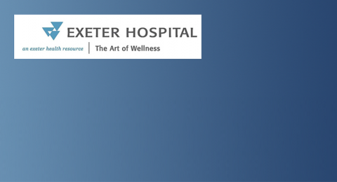 Exeter Hospital graphic with logo