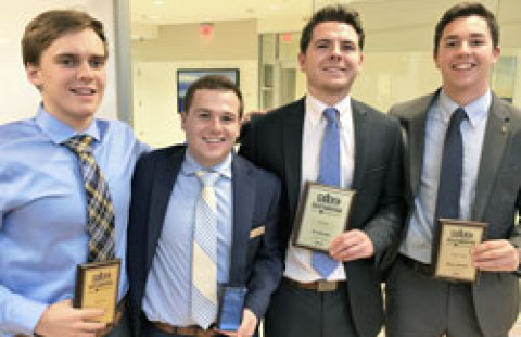 UNH sales winners bryant university at northeast intercollegiate sales competition