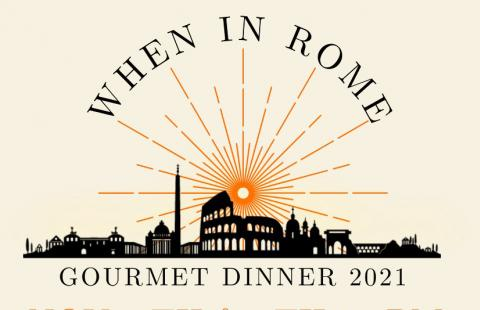 Gourmet Dinner 2021 - When in Rome graphic