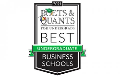 2021 poets & quants ranking undergrad business schools logo