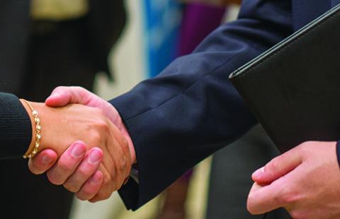 A photo of a handshake