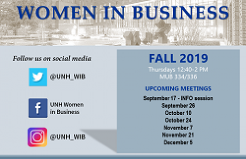 UNH WIB Meetings Fall 2019