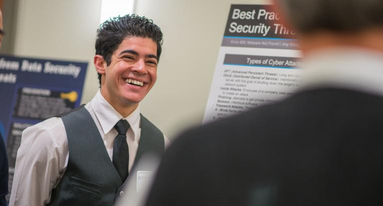 Accounting student Eddie Alhamdan