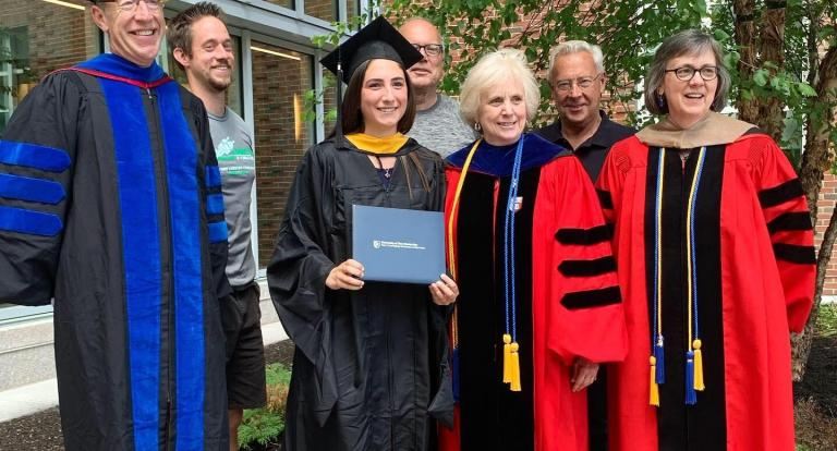 Janet Khoury at her M.S. Accounting hooding